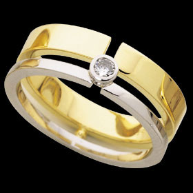 1C194 - 18ct yellow and white gold split band