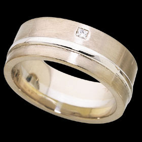 1C293 - white gold flat band