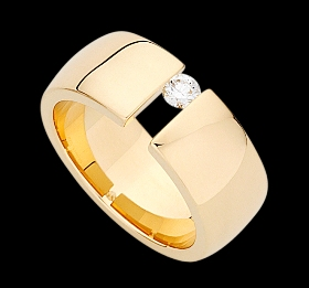 c432 - yellow gold polished ring