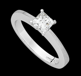 c858a - Platinum emery finish ring