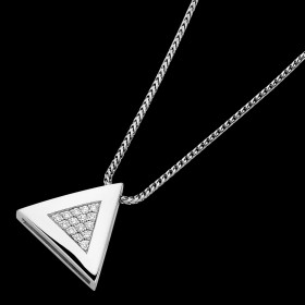 C757 18ct white gold diamond pendant