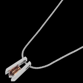 C767 white gold diamond pendant