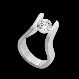 """The Edge"" diamond tension set ring"